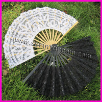 (10pcs/lot) Free shipping!!Battenburg Lace Fan Elegant classy and beautiful adult Lace Fan