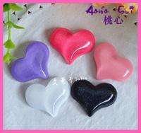 Wholesale Japanese Flatback Character Resins Glitter heart Resin Crafts DIY Phone Decoration Embellishments 32MM