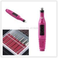 1Set 20000RPM Professional Nail Drill Machine Art Salon Manicure File nail tools Polish Pen Pedicure EU Plug Free shipping