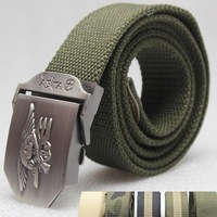 US Navy Seal military tactical training belt Canvas casual Airsoft paintball jeans Cycling Camping Hiking Waistband