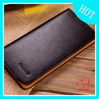 2014 Best Selling Leather Wallet  men Zipper Purse