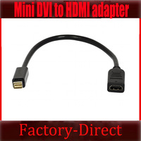Free shipping&wholesale 1pcs/lot MINI DVI TO HDMI VIDEO CABLE ADAPTER FOR APPLE MACBOOK MAC MINI WHITE