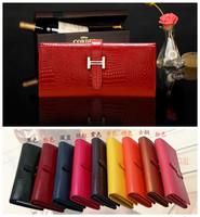 2013 Classic Crocodile Long Design Women's Clutch Wallet High Quality Genuine Leather &PU Brand Women Wallet Luxury 2Fold Wallet