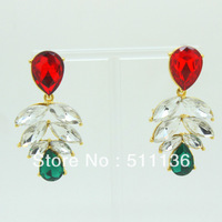 2013 New Design Fashion Gold Big Crystal Waterdrop Earrings KK-SC122 Retail