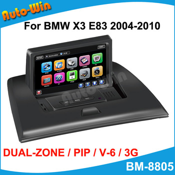 "7""Car DVD GPS Player for BMW X3 E83 2004-2010 Support Original Functions GPS IPOD RDS DVD USB SD V-6 DISC DUAL ZONE"