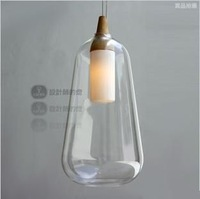 Modern glass pendant light Natural curved clear pendant lamp for dining room PL216