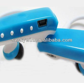 Sport Handphone MP3, Earphone&Headphone MP3 Player 8GB, fashion Running MP3 Waterproof