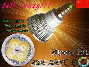 FREE SHIPPING 20pcs /lot Dimmable LED Lamp E14 e27 gu10 gu5.3 mr16 12W  Halogen Bulb Light Bulbs High Power light LED Spotlight