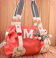 Lovely pochette lady&women handbag (bird&bear On the Hand bag) Satchel Leather PU Student Bag Many clolor choose