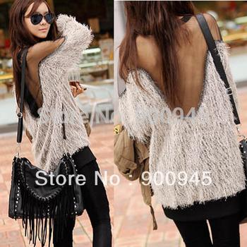 EAST KNITTING FREE SHIPPING Women Tops Fashion  Sexy Raglan Sleeve Transparent  Hoodies Korean  Shirt #L034602