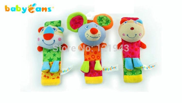 Babyfans desgaste no pulso brinquedos educacionais do bebê chocalhos de brinquedo de pelúcia bebê pulso com brinquedo chocalho do bebê(China (Mainland))