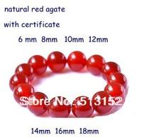 Natural Red Agate Bracelet Handmade Gem Beaded Bracelets Bangles 059
