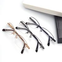 Oculos De Sol Wholesale  Pure Titanium Clear lens High quality Glasses men optical Myopia Frame Half Rim Frame In Stock (120522)