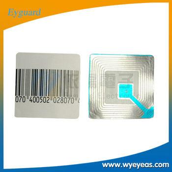 Supermarket 8.2Mhz soft label 40 * 40mm RF soft label RF tags eas system soft labels