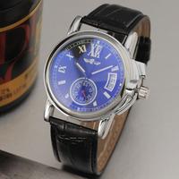 Winner Brand Unisex Casual Automatic Self-Wind Mechanical Auto Date Wristwatch Roman Numerals Index Unique Gradient Window