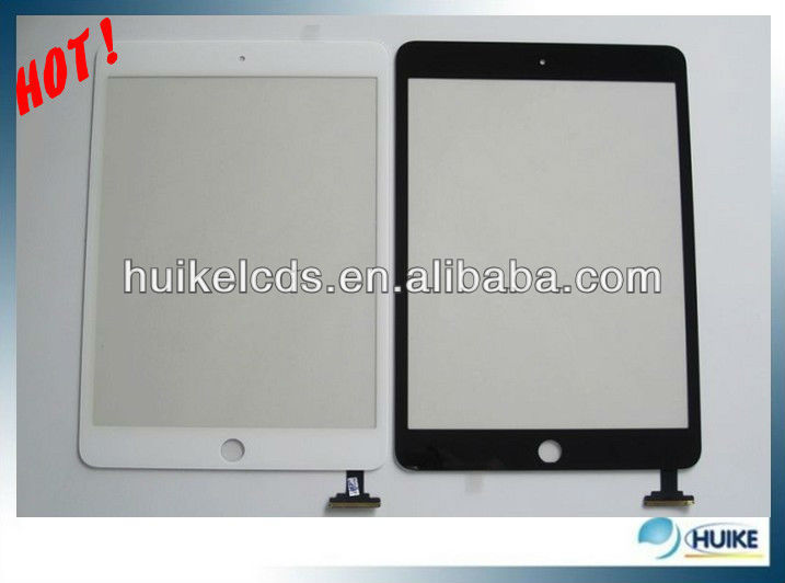 DHL10pcs/lot!!100% Original Digitizer oem Touch Screen Glass lens For Ipad Mini Front Panel black +adhesive(China (Mainland))