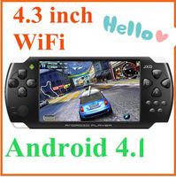 JXD S602B 4.3 Inch Almighty WiFi Direct Multiplayer Fight Games Handheld with 2000 games CD and gift Free shipping S724