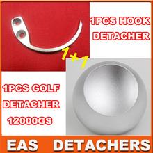 Separador magnético de 1pc Tag 12000GS Desmontador golf SuperLock EAS duros Universal + 1pc gancho gancho separador EAS(China (Mainland))