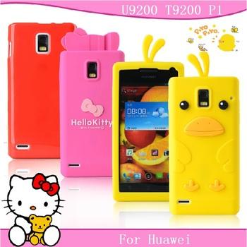 For HUAWEI p1 phone case for huawei u9200 mobile phone case for huawei  t9200 protective case shell soft silica gel set cartoon