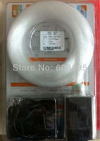 200pcs 0.75mm*4M length Plastic packaging optical fiber kit with 5W RGB light engine ,PMMA,IR 24key remote.
