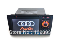 2Din 7 inch DVD GPS Navigation Stereo Radio for Audi A6 with Bluetooth RDS Phonebook function, Free8 G card with MAP