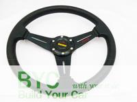 free Shipping 14inch  MOMO PU Steering Wheel ,Steering Wheel (black)