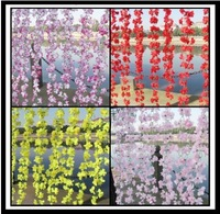 Simulation fake  Rhododendron flower vines for wedding party decoration
