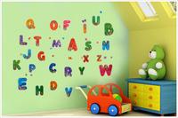 free shipping  PVC kid/children room wall decor sticker 26 english characters cartoon  sticker 50*70 cm