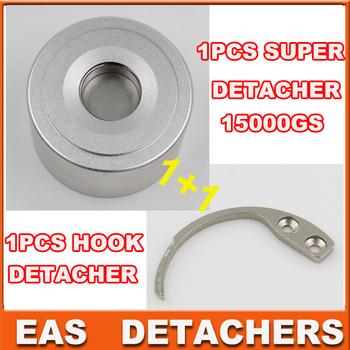 Universal magnetic detacher  EAS Hard Tag 1pc superlock  detacher 15000gs+ 1pc handheld hook detacher