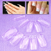 Free shipping 5boxess/ lot -100pcs in a box Clear full cover false nail tips