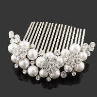 pearl hair comb wedding hair Jewelry bride accessories  FS-012 hairwear bridal Jewelry 2013