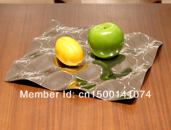 Free shipping Wave Tray Designer Fruit Plate Made of Stainless Steel 304, A++ Qulity Guarantee
