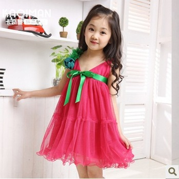 Free shipping! 2013 new summer girls dress children's children's wear summer dress baby princess dress