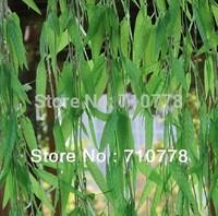 150pcs 1.8M artificial salix leaf  artificial flowers vine diy home garden supermarket decoration vine plant