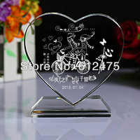 2D crystal heart photo frame,wedding favors and gifts/valentine's day souvenir chinese new year event&party supplies decoration