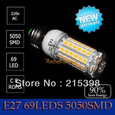 7w 5050 SMD 48LED  5w  30led Corn Bulb Light  E27 10w 69led 5050  220-240v LED Lamp Cool White | Warm White 220V 750LM