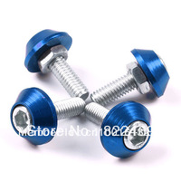 Universal 10PCS/ Lot License Plate Frame Bolts For Car/Motorcycle/Truck Alloy Hex Blue For Yamaha Honda Ducati  Harley