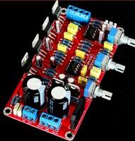 YJ dual AC12V-0-12V  2.1 channel NE5532 + LM1875 amplifier board 2*25W+50W Subwoofer