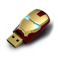 YY1 Wholesale Hot Avengers Iron Man LED Flash 4GB 8GB 16GB 32GB 64GB 128GB 256GB USB Flash 2.0 Memory Drive Stick Pen/Thumb/Car