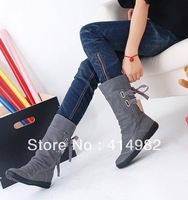 Hot-selling boots female spring and autumn 2012 boots elevator medium-leg boots back strap