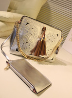 2-way Aimali style vintage multicolor  hollow out cut cross body handbag tote free shipping