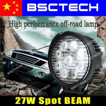 27W 1800 lum High Power  Spot Pencil Beam LED Work Lights Lamps SUV Truck Farming Vehicles