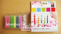 FREE SHIPPING! Colour flame candle.5 colours candle 12-pieces-a-box set=10.99 $= 0.91$ / piece
