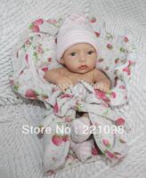 "Free shipping 12"" Reborn baby  New Vinyl & Silicone Super Simulation Baby Doll Lifelike \handmade Reborn Girl Doll For Children"