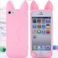 For apple iphone 5 5G Luminous Koko Cat Silicon Case Silicone Gel Skin, Cute Soft TPU Case Cover For iphone5, HK Post (PG0514)