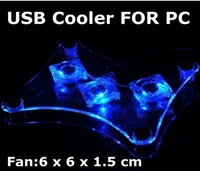 3 Fan USB Light Cooling Pad Cooler pad for Laptop PC Notebook