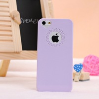 10pcs/lot Elegant New Fashion Cute Color Sweet Hallow Flower Heart Hard Case Cover for Apple iPhone 4 4G 4S 5 5G 5S