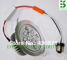 E26 110V  led dimmable 15w downlight led ceiling lamp 12*1pcs recessed downlight warm white cool(China (Mainland))