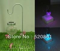 New Free Shipping hot-sale style glass solar  RGB garden  lamp /solar art deco lamp solar outdoor changable lamp