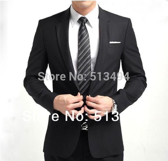 Mode männer slim anzug mann, hochzeit anzüge business-anzug gesetzt beiläufige passform taste anzug herren asian größe